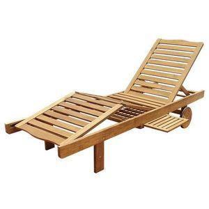 Drewniany leżak ogrodowy LEILA - 30 x 60 x 200 cm obraz