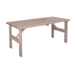 Ogromny drewniany stół ogrodowy VIKING szary - 150 cm obraz