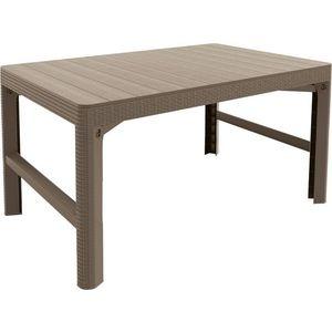 Plastikowy stół ogrodowy LYON 116 x 72 cm - cappuchino obraz