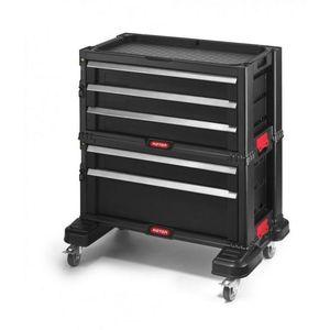 Skrzynka narzędziowa KETER - 5 szuflad - czarna obraz