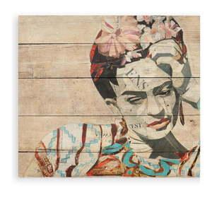 Tablica ścienna z drewna sosnowego Madre Selva Collage of Frida, 40x60 cm obraz