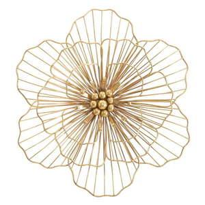 Dekoracja ścienna w złotym kolorze Mauro Ferretti Flower Stick, 45x42 cm obraz