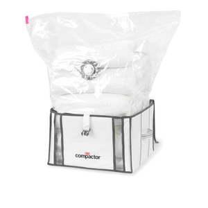 Zestaw 2 białych organizerów z workiem próżniowym Compactor Life 3D Vacuum Bag, 40x25 cm obraz