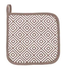 Komplet 2 brązowych bawełnianych łapek Tiseco Home Studio Hexagon Tetris obraz