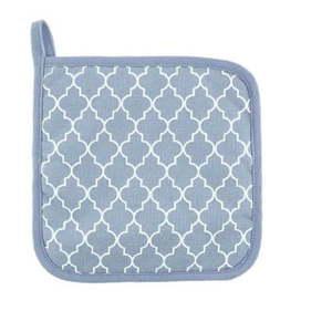 Komplet 2 jasnoniebieskich bawełnianych łapek Tiseco Home Studio Arabesk obraz