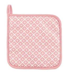Komplet 2 różowych bawełnianych łapek Tiseco Home Studio Dot obraz