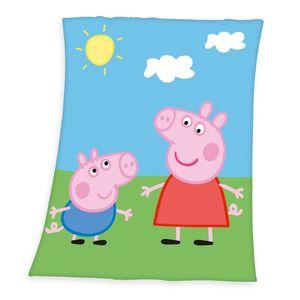 Koc dziecięcy Świnka Peppa, 130 x 160 cm obraz