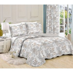 Narzuta na łóżko Patchwork Ina, 230 x 250 cm, 2 szt. 50 x 70 cm, 230 x 250 cm obraz