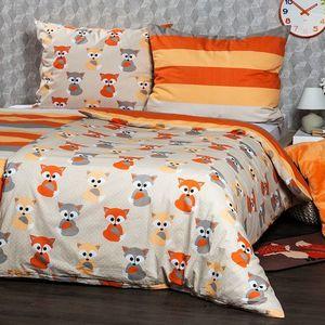 4Home Pościel bawełniana Little Fox, 160 x 200 cm, 70 x 80 cm, 160 x 200 cm, 70 x 80 cm obraz