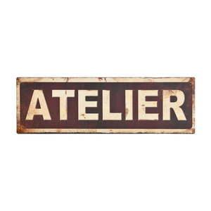 Metalowa tablica Antic Line Atelier, 35x11 cm obraz