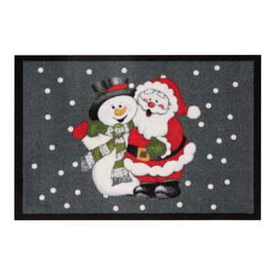 Wycieraczka Hans Home Santa and Snowman, 40x60 cm obraz