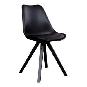 Zestaw 2 czarnych krzeseł z czarnymi nogami House Nordic Bergen obraz
