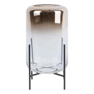 Szklany wazon PT LIVING Silver Fade, wys. 23, 5 cm obraz