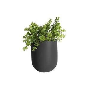Matowa czarna ceramiczna doniczka ścienna PT LIVING Oval obraz