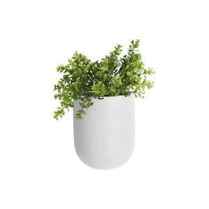 Matowa biała ceramiczna doniczka ścienna PT LIVING Oval obraz