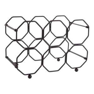 Czarny metalowy składany stojak na wino PT LIVING Honeycomb obraz