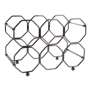 Szary metalowy składany stojak na wino PT LIVING Honeycomb obraz