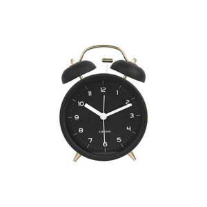 Czarny budzik Karlsson Classic Bell, ⌀ 10 cm obraz