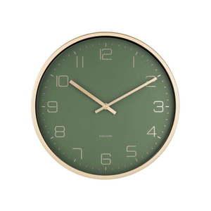 Zielony zegar ścienny Karlsson Elegance obraz