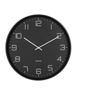 Czarny zegar ścienny Karlsson Lofty, ø 40 cm obraz