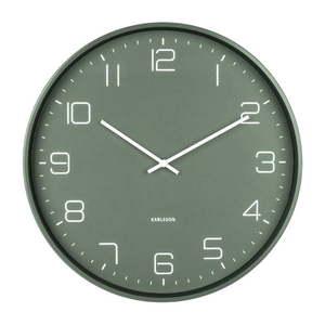 Zielony zegar ścienny Karlsson Lofty, ø 40 cm obraz