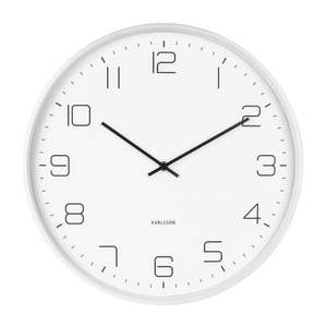 Biały zegar ścienny Karlsson Lofty, ø 40 cm obraz