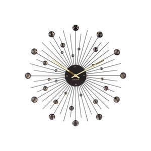 Czarny zegar Karlsson Sunburst, ø 50 cm obraz