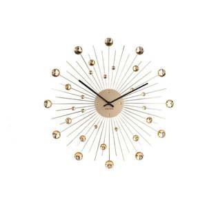 Zegar w kolorze złota Karlsson Sunburst, ø 50 cm obraz