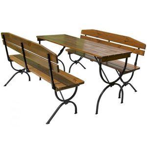 Drewniany zestaw ogrodowy BRAVO - 180CM obraz