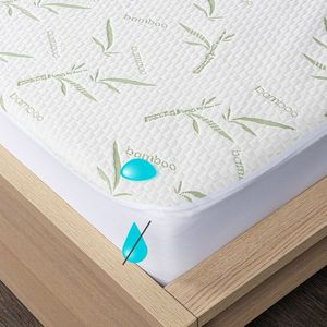 4Home Bamboo wodoodporny ochraniacz na materac z lamówką, 200 x 200 cm + 30 cm, 200 x 200 cm obraz