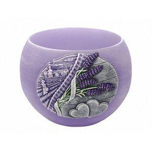 Świeczka dekoracyjna Lavender Kiss, lampion obraz