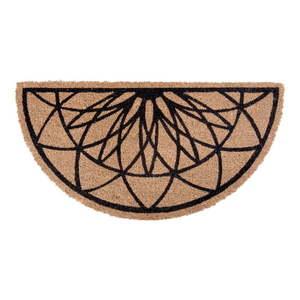 Brązowo-czarna półokrągła wycieraczka z włókna kokosowego PT LIVING Fairytale coir obraz