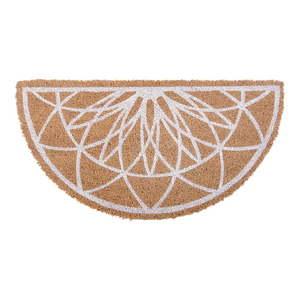 Brązowa półokrągła wycieraczka z włókna kokosowego PT LIVING Fairytale coir obraz