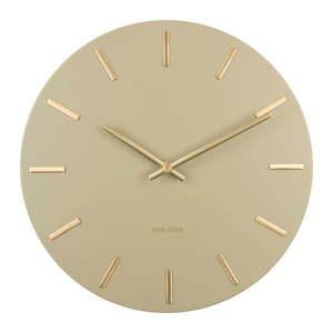 Oliwkowy zegar ścienny Karlsson Charm, ø 30 cm obraz