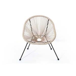 Beżowy fotel ogrodowy ze sztucznego rattanu Le Bonom Avocado obraz