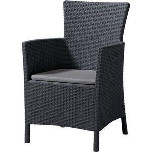 Krzesło polirattanowe MONTANA grafit obraz