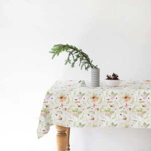 Świąteczny lniany obrus Linen Tales Merry, 140x200 cm obraz