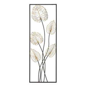 Metalowa dekoracja wisząca z wzorem liści Mauro Ferretti Luxy -A-, 31x90 cm obraz