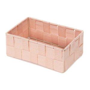 Różowy organizer łazienkowy Compactor Stan, 18x12 cm obraz