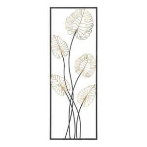 Metalowa dekoracja wisząca z wzorem liści Mauro Ferretti Luxy -B-, 31x90 cm obraz