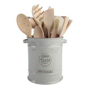 Szary pojemnik ceramiczny na przybory kuchenne T&G Woodware Pride of Place obraz