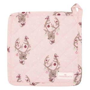 Zestaw 2 różowych bawełnianych rękawic kuchennych Green Gate Dina obraz