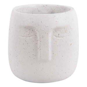 Biała ceramiczna doniczka PT LIVING Face, ø 15 cm obraz