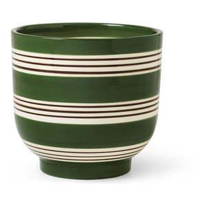 Biało-zielona ceramiczna doniczka Kähler Design Nuovo, ø 15 cm obraz