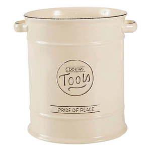 Kremowy pojemnik ceramiczny na przybory kuchenne T&G Woodware Pride Of Place obraz