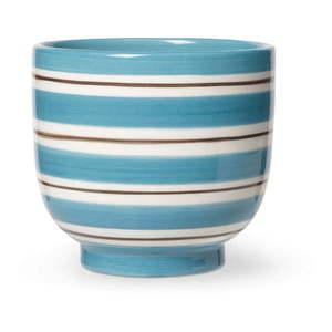 Biało-niebieska ceramiczna doniczka Kähler Design, ø 12 cm obraz