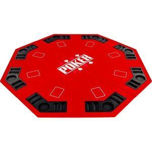 Składana mata do pokera - czerwona obraz