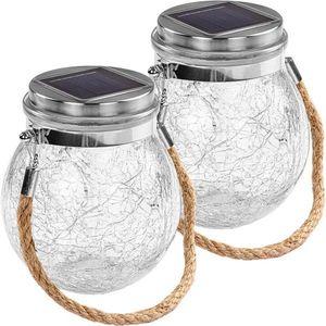 VOLTRONIC Zestaw okrągłych solarnych lamp 20 LED, 2 szt obraz