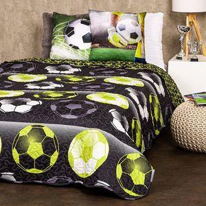 4Home Narzuta na łóżko Football, 140 x 220 cm obraz