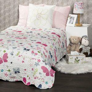 4Home Narzuta na łóżko dla dzieci Butterfly, 140 x 200 cm obraz